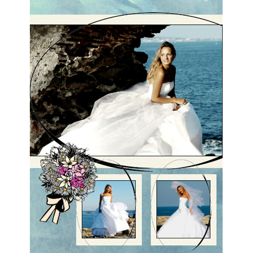 "Scrapbook template ""Wedding #11"" in ""Wedding Scrapbooking Templates"""