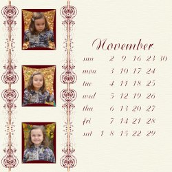 "Scrapbook template ""November #14"" in ""Calendars 2008"""