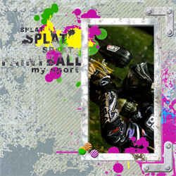 "Scrapbook template ""Paintball #06"" in ""Sport"""