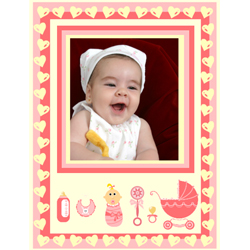 "Scrapbook template ""Baby Shower #17"" in ""Baby Shower"""