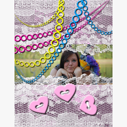 "Scrapbook template ""Teenagers #05"" in ""Teenagers"""