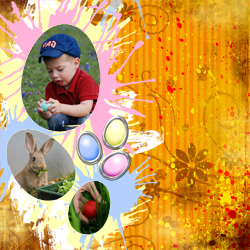 "Scrapbook template ""Easter 2010 #08"" in ""Easter"""