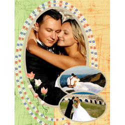 "Scrapbook template ""Wedding #13"" in ""Wedding Scrapbooking Templates"""
