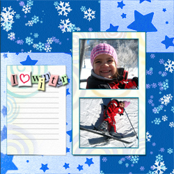 "Scrapbook template ""Winter times #06"" in ""Winter Vacation"""