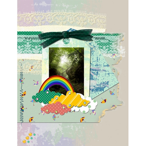 "Scrapbook template ""Rainy Day #19"" in ""Seasonal"""