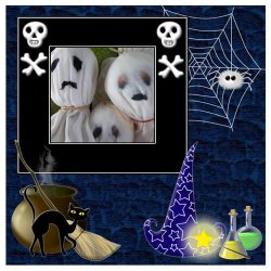 "Scrapbook template ""PhotoMix Little Witch #3"" in ""Halloween"""