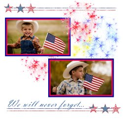 "Scrapbook template ""Memorial Day #22"" in ""Memorial Day"""