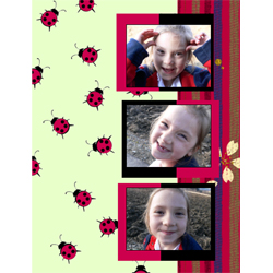 "Scrapbook template ""Garden #11"" in ""Nature"""