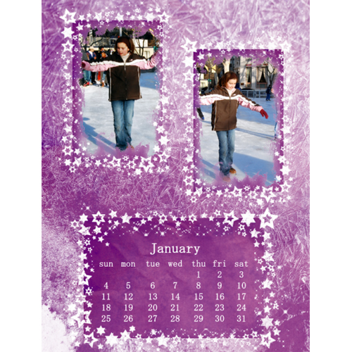 "Scrapbook template ""January #19"" in ""Calendars 2009"""