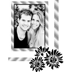 "Scrapbook template ""Black&White #19"" in ""Black&White"""