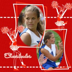 "Scrapbook template ""Cheerleaders #14"" in ""Cheerleaders"""