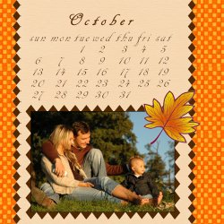 "Scrapbook template ""October #02"" in ""Calendars 2008"""