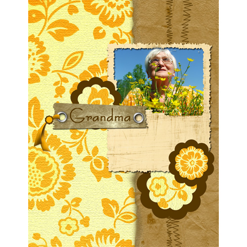 "Scrapbook template ""Family #03"" in ""Family"""