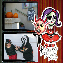 "Scrapbook template ""Painted Halloween #14"" in ""Halloween"""