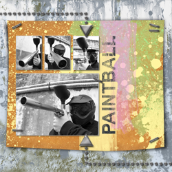 "Scrapbook template ""Paintball #10"" in ""Sport"""