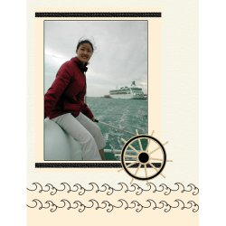 "Scrapbook template ""Water Activities #19"" in ""Hobbies"""