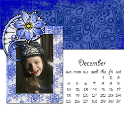 "Scrapbook template ""December #02"" in ""Calendars 2011"""