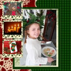 "Scrapbook template ""Christmas 09 #10"" in ""Christmas Scrapbooking"""