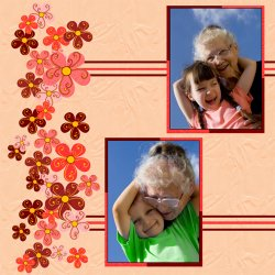 "Scrapbook template ""Mothers Day #15"" in ""Mother`s Day"""