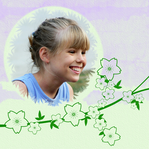 "Scrapbook template ""Spring #33"" in ""Spring"""