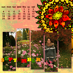 "Scrapbook template ""September #02"" in ""Calendars 2011"""