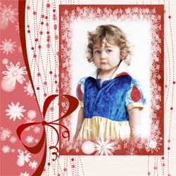 "Scrapbook template ""Christmas 2009 #09"" in ""Christmas Scrapbooking"""