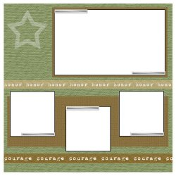 "Scrapbook template ""Memorial Day #1"" in ""Military"""