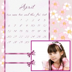 "Scrapbook template ""April #03"" in ""Calendars 2008"""