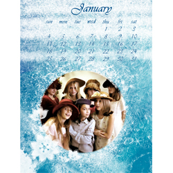 "Scrapbook template ""January #03"" in ""Calendars 2009"""