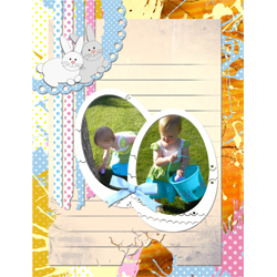 "Scrapbook template ""Easter 2010 #15"" in ""Easter"""