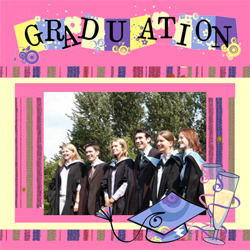 "Scrapbook template ""Graduation #18"" in ""Graduation"""