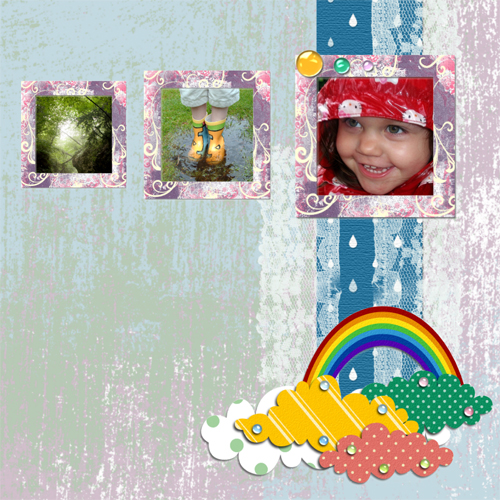 "Scrapbook template ""Rainy Day #18"" in ""Seasonal"""