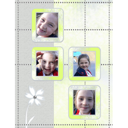 "Scrapbook template ""Silver Dreams #17"" in ""Silver Dreams"""