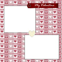 "Scrapbook template ""Venting Out Graphics - Valentine #1"" in ""St Valentine"""