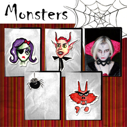 "Scrapbook template ""Painted Halloween #08"" in ""Halloween"""