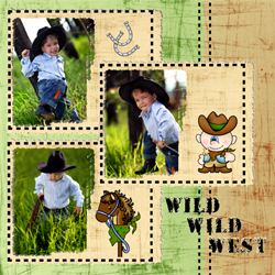 "Scrapbook template ""Wild West  #04"" in ""Travel"""