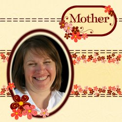 "Scrapbook template ""Mothers Day #10"" in ""Mother`s Day"""