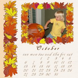 "Scrapbook template ""October # 04"" in ""Calendars 2008"""