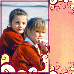 "Scrapbook template ""Friends #35"" in ""Friends Scrapbooking"""