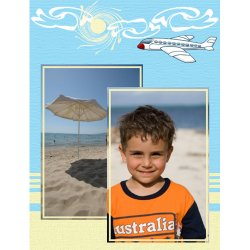 "Scrapbook template ""Travel #07"" in ""Travel"""