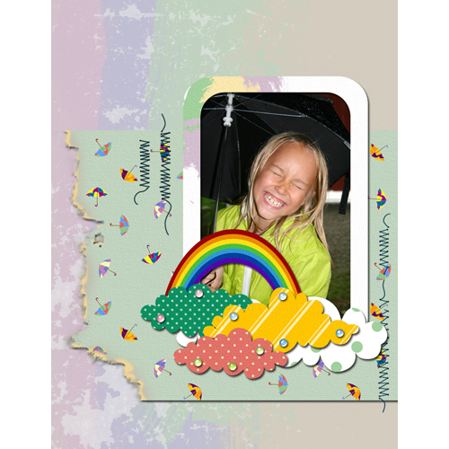 "Scrapbook template ""Rainy Day #03"" in ""Seasonal"""