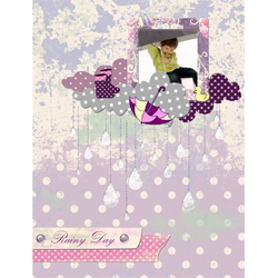 "Scrapbook template ""Rainy Day #07"" in ""Seasonal"""