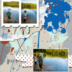 "Scrapbook template ""Fishing #08"" in ""Summer Vacation"""