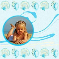 "Scrapbook template ""Summer #06"" in ""Summer Vacation"""