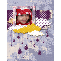 "Scrapbook template ""Rainy Day #01"" in ""Seasonal"""