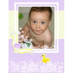 "Scrapbook template ""Baby firsts #11"" in ""Firsts"""