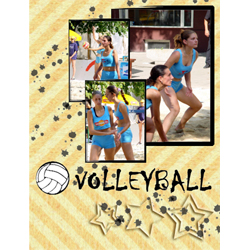 "Scrapbook template ""Volleyball #07"" in ""Sport"""