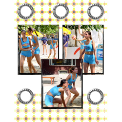 "Scrapbook template ""Volleyball #09"" in ""Sport"""
