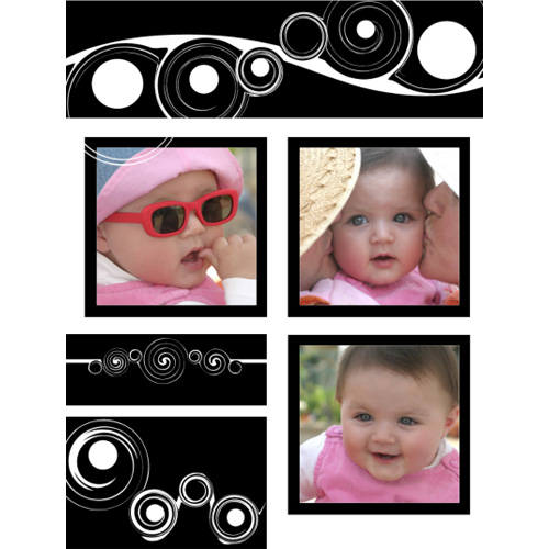 "Scrapbook template ""Black&White #03"" in ""Black&White"""