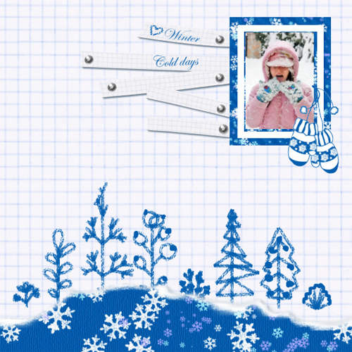 "Scrapbook template ""Winter time #04"" in ""Winter Vacation"""